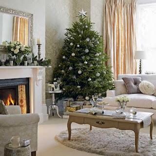 bela decoração da árvore de natal