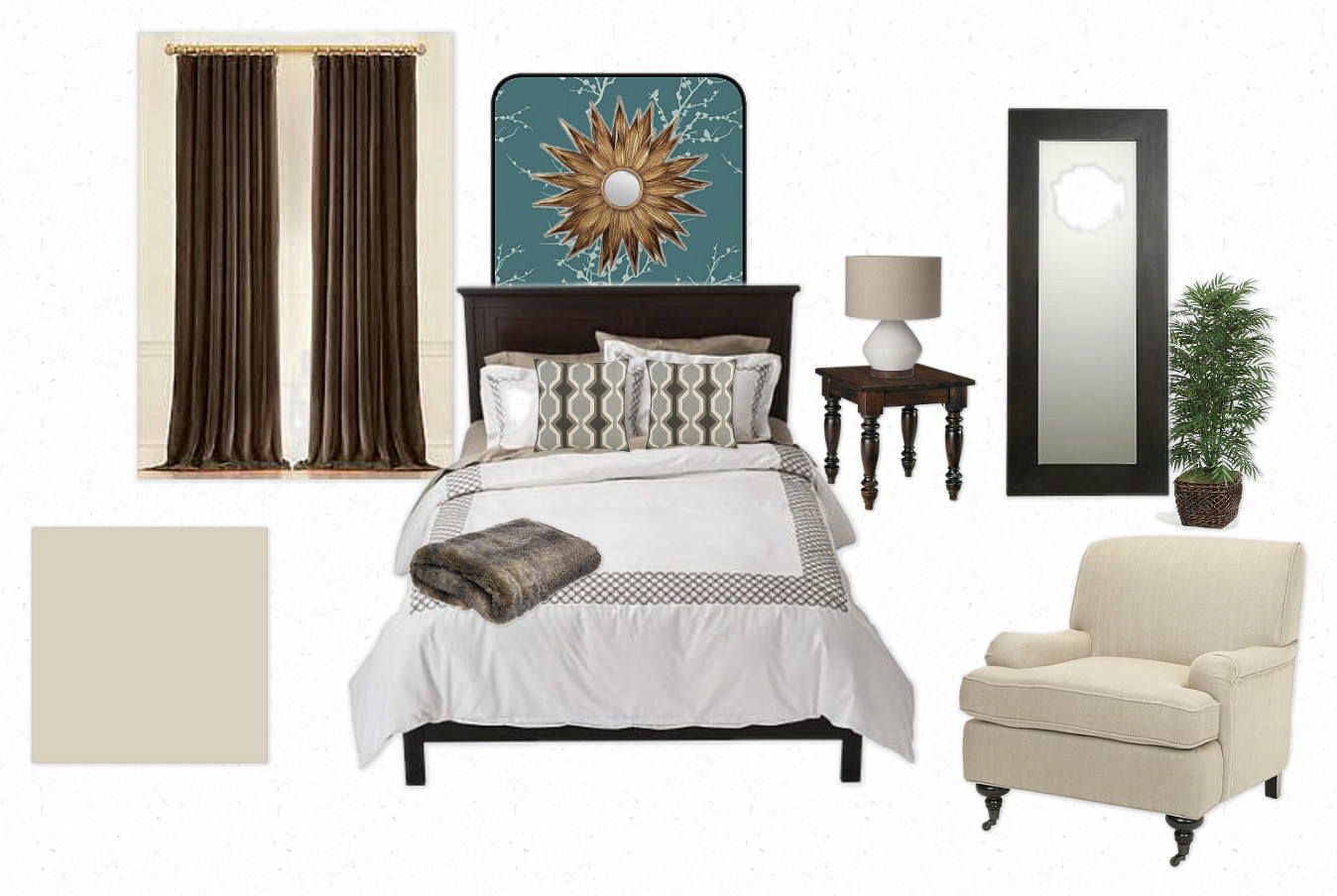 The Collected Interior Mood Board Hotel Inspired Master Bedroom