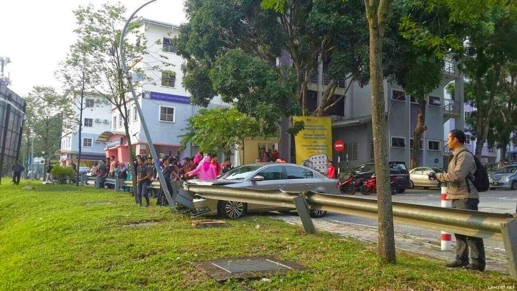 Pelajar UiTM Shah Alam Maut Dilanggar Kereta Dalam Kampus