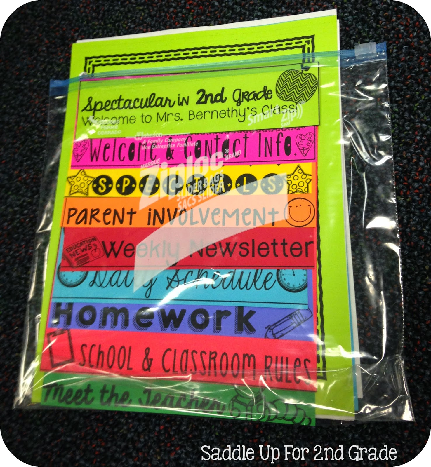New Student Bags by Saddle Up For 2nd Grade