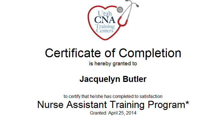adventures of becoming a nurse  certificate of completion