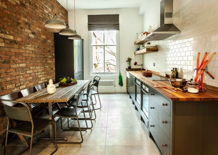 long narrow kitchen