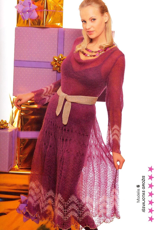 платье вязание спицами схемы
