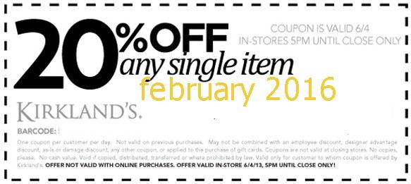 Kirklands coupons printable 2018