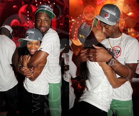 Gabrielle Union And Dwyane Wade Championship 2013 Groupie sends o...