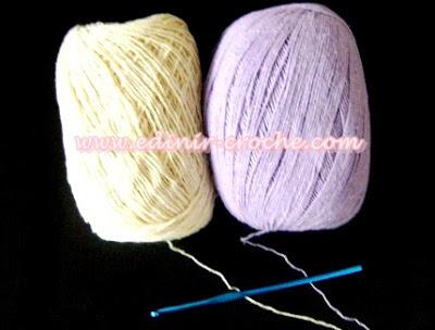 trabalhando com dois fios juntos em croche dvd frete gratis edinir-croche