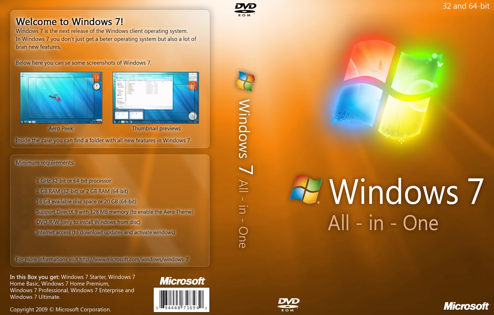 Windows 7 Ultimate SP1 Janeiro de 2016 x64 Windows 7 All in One DVD
