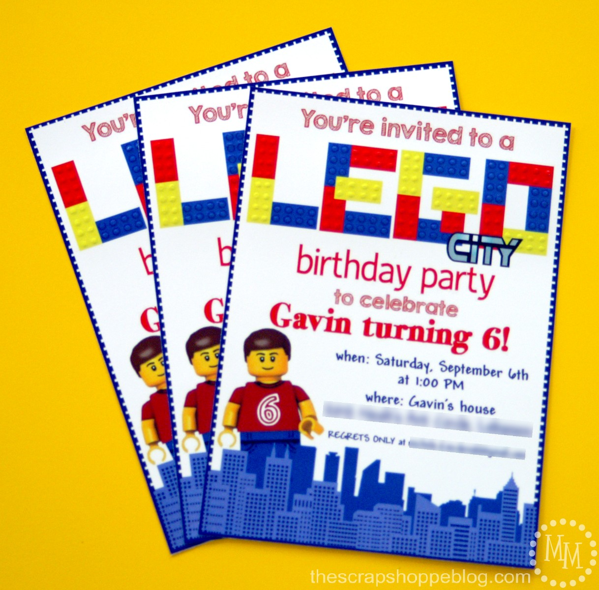 lego birthday invitations - the scrap shoppe, Party invitations