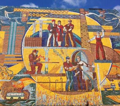uzbek mosaic building art, uzbek art craft tours