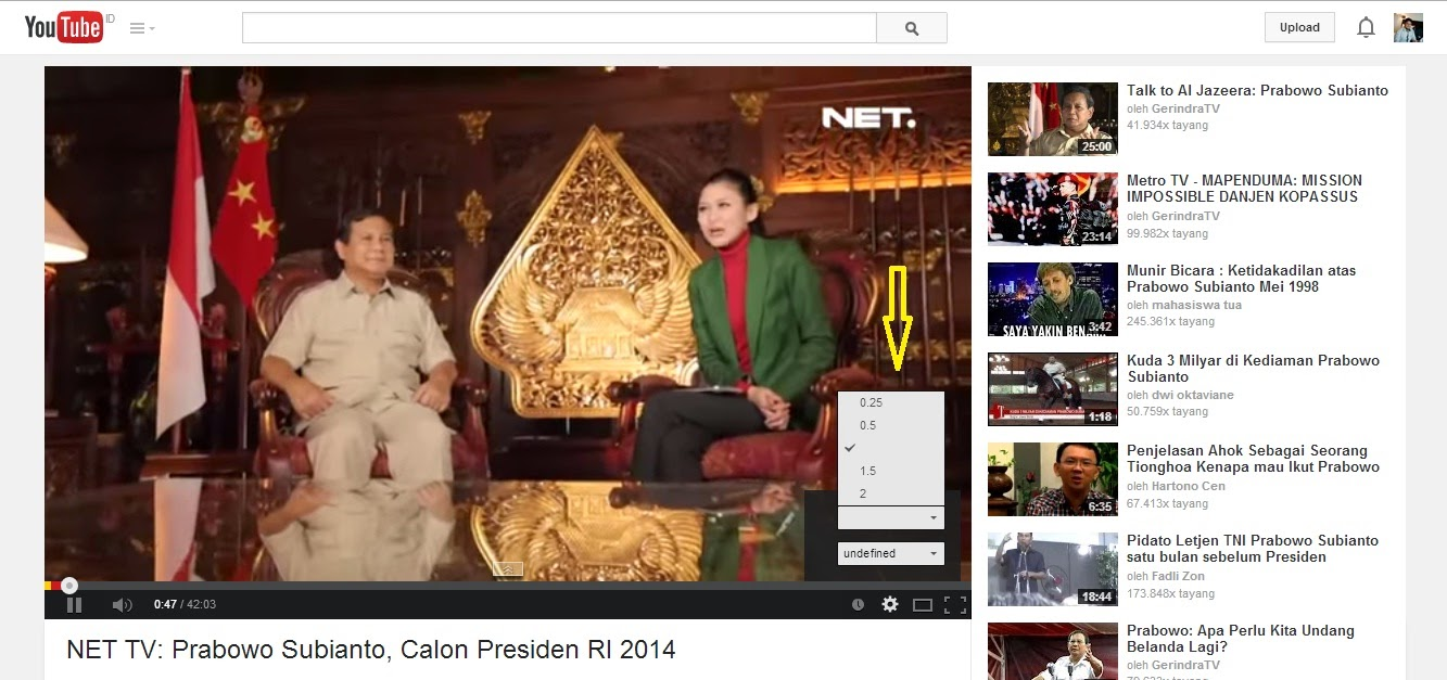 Cara Menonton Video YouTube Versi Lambat (Slow Motion)