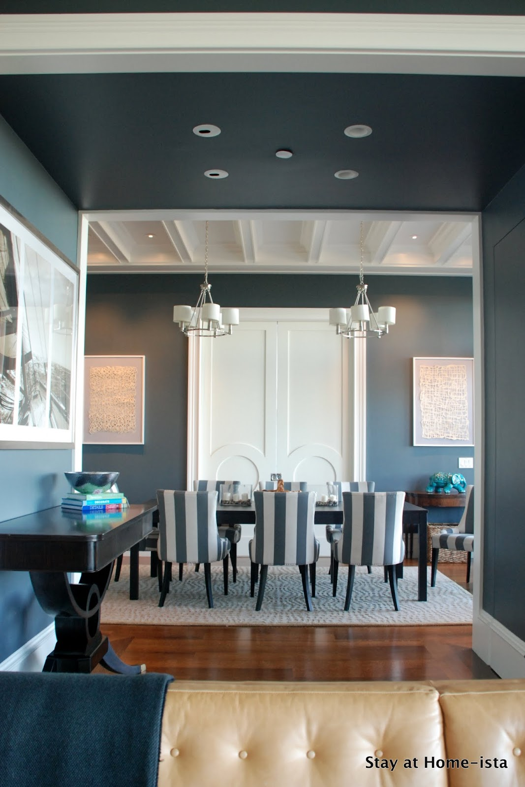 Cute StayatHomeista Dining room from Living Room