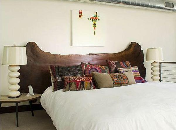 A mi manera c mo hacer una cabecera r stica de madera - Hacer una cama de madera ...