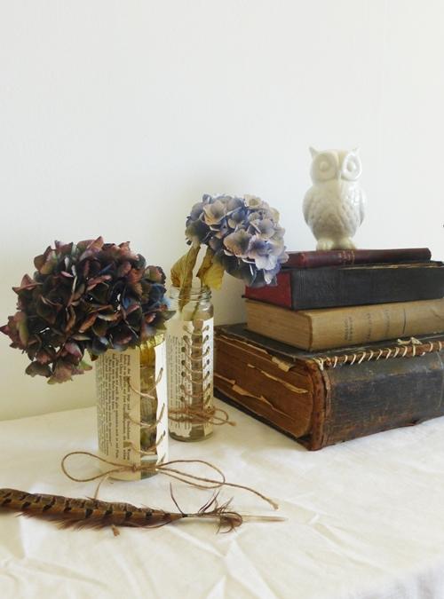 DIY Crafting Blumenvase aus Papier