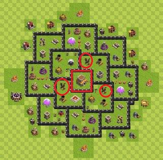 Formasi Base TH 8 War of Clash of Clans Terkuat