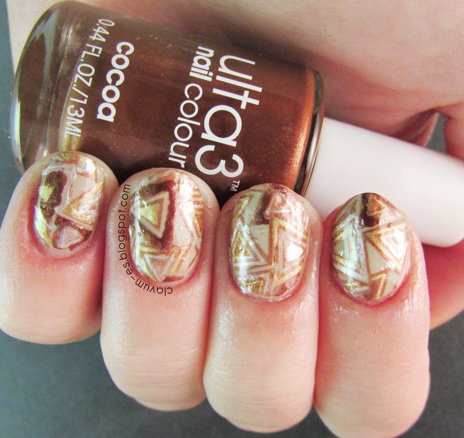 Reverse Stamped Nails