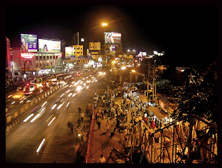 A night view of coimbatore
