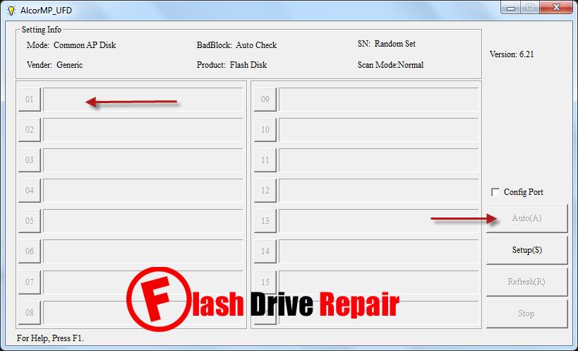 Download AlcorMP UFD v6.21 to fix corrupted AU6981- AU6982 -AU6983 Chip