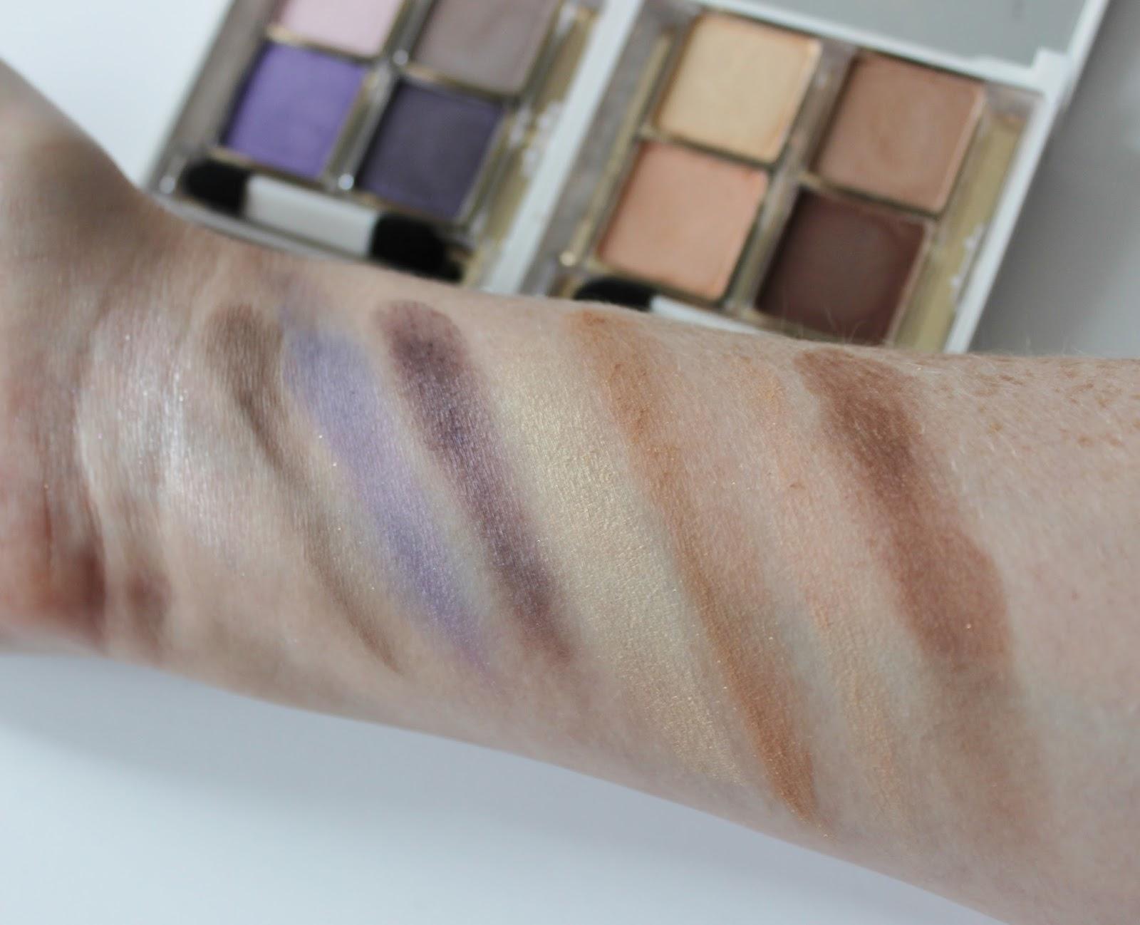 Elizabeth Arden untold aw14 makeup launches eyeshadow quad swatches