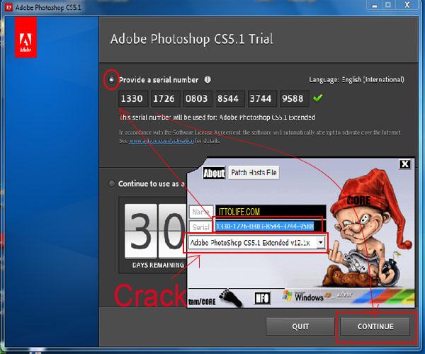 Crack dan Serial number Adobe photoshop Cs 5 Extended ...