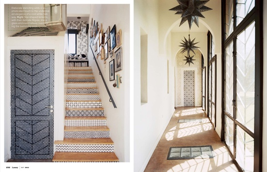 Stairs, entry, simple design, window pattern