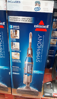 Save time and keep your floors clean with the Bissell Symphony All-In-One Vacuum and Steam Mop