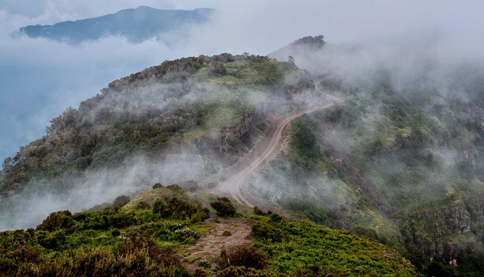 út az Etióp-magasföldön