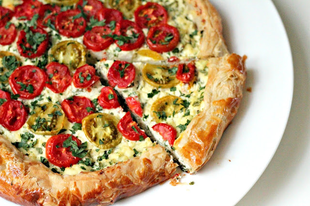Tomato And Ricotta Tart Recipe — Dishmaps