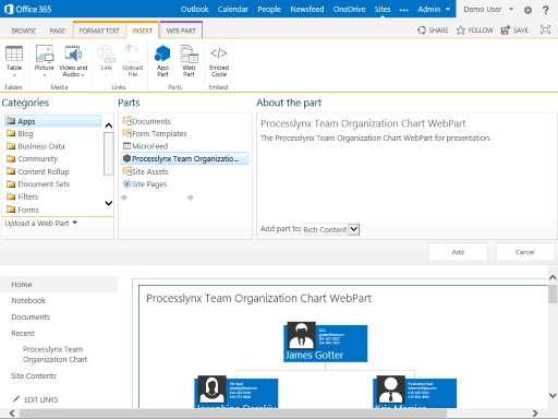here are some videos of the sharepoint app on how you can manage and configure the app - Organization Chart App