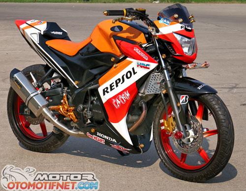 Modifikasi Honda CB150R Street Fire Ala Marc Marquez