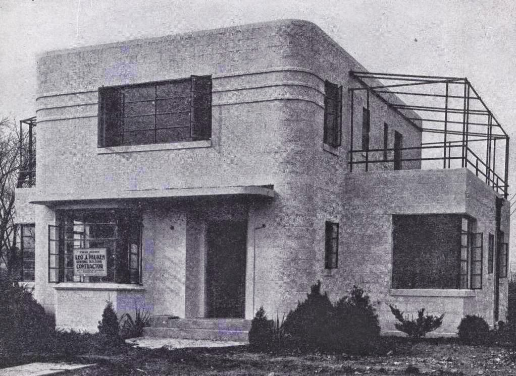 Modern in line and detail j j p oud and corbusier style art moderne and deco house plans - Deco lounge oud en modern ...