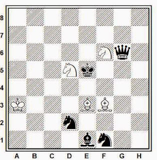 Estudio artístico de ajedrez compuesto por Leonid I. Kubbel (Magyar Sakkvilag, 1º premio, 1929)