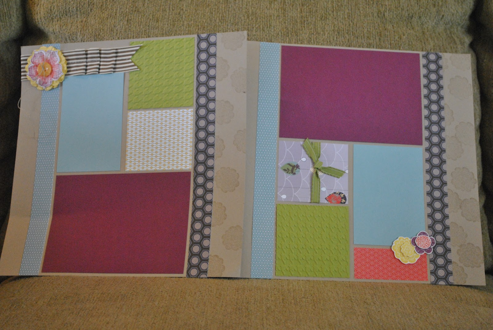 On the page it was fun to use my sewing machine for scrapbooking