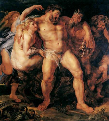 Hércules ebrio por Peter Paul Rubens