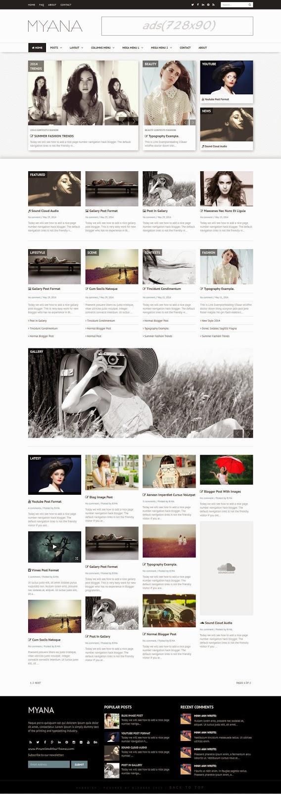 Premium Responsive Blogger Templates 2015