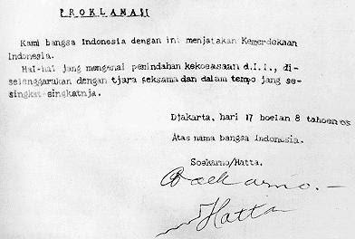 Isi Naskah teks proklamasi 17 agustus 1945 yang otentik / autentik / asli