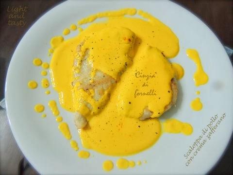 scaloppa di pollo con crema allo zafferano