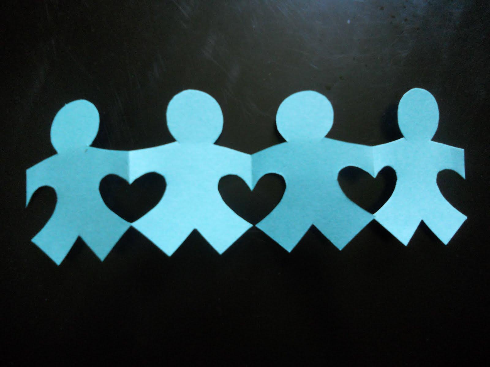 Virtudes para ni os cadena del amor - Como hacer cadenetas de papel para fiestas ...
