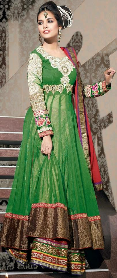 Green Net and Viscose Jacquard Flared Lehenga Choli with Dupatta