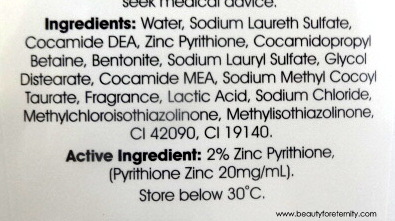 Cedel Anti Dandruff Medicated Shampoo Ingredients