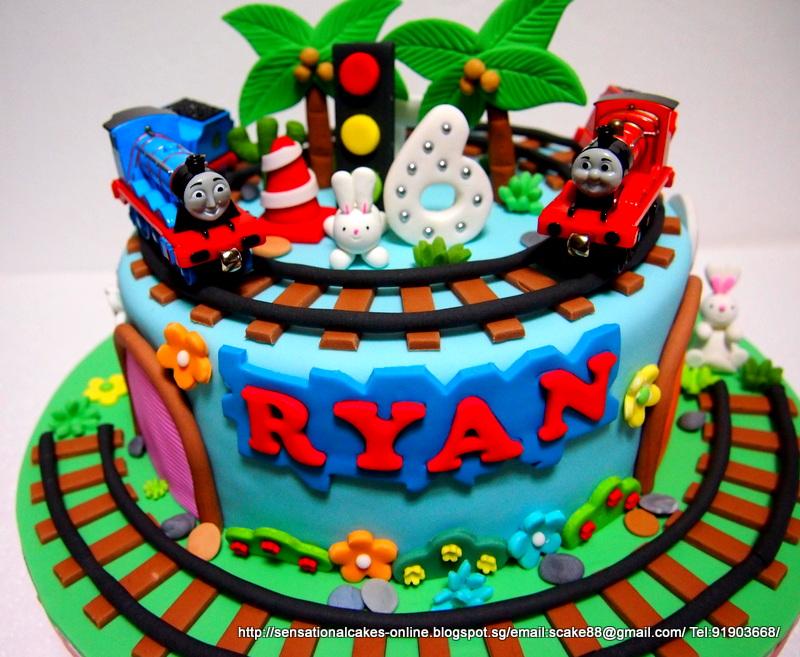 The Sensational Cakes Thomas 3d Train Cake Singapore 1 Tier