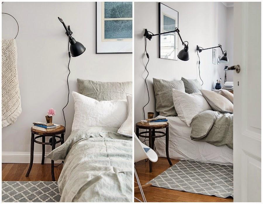 Decoraci n f cil tendencia apliques de pared en dormitorios - Lamparas de pared para dormitorios ...
