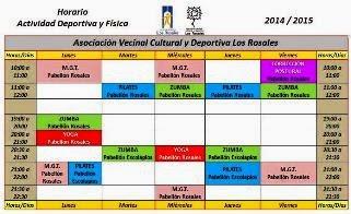 Actividades AVCyD Los Rosales