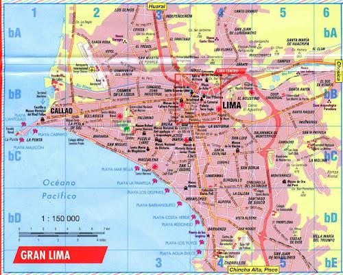 Mapa da cidade de Lima – Peru