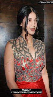 Shruti Hassan in transparent sleeveless top