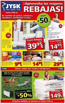 catalogo jysk rebajas agosto 2013