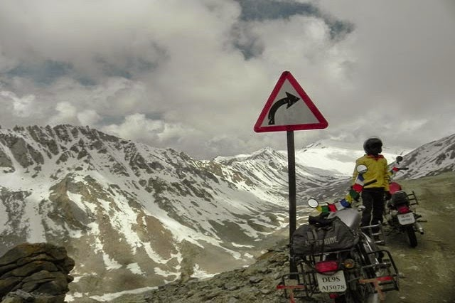 One of the popular tourist activities at Khardung La Top is Mountain Biking