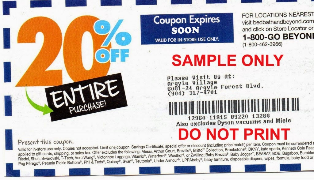 Bed bath and beyond coupon code 20 off