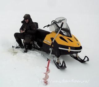 зимняя рыбалка снегоход тундра