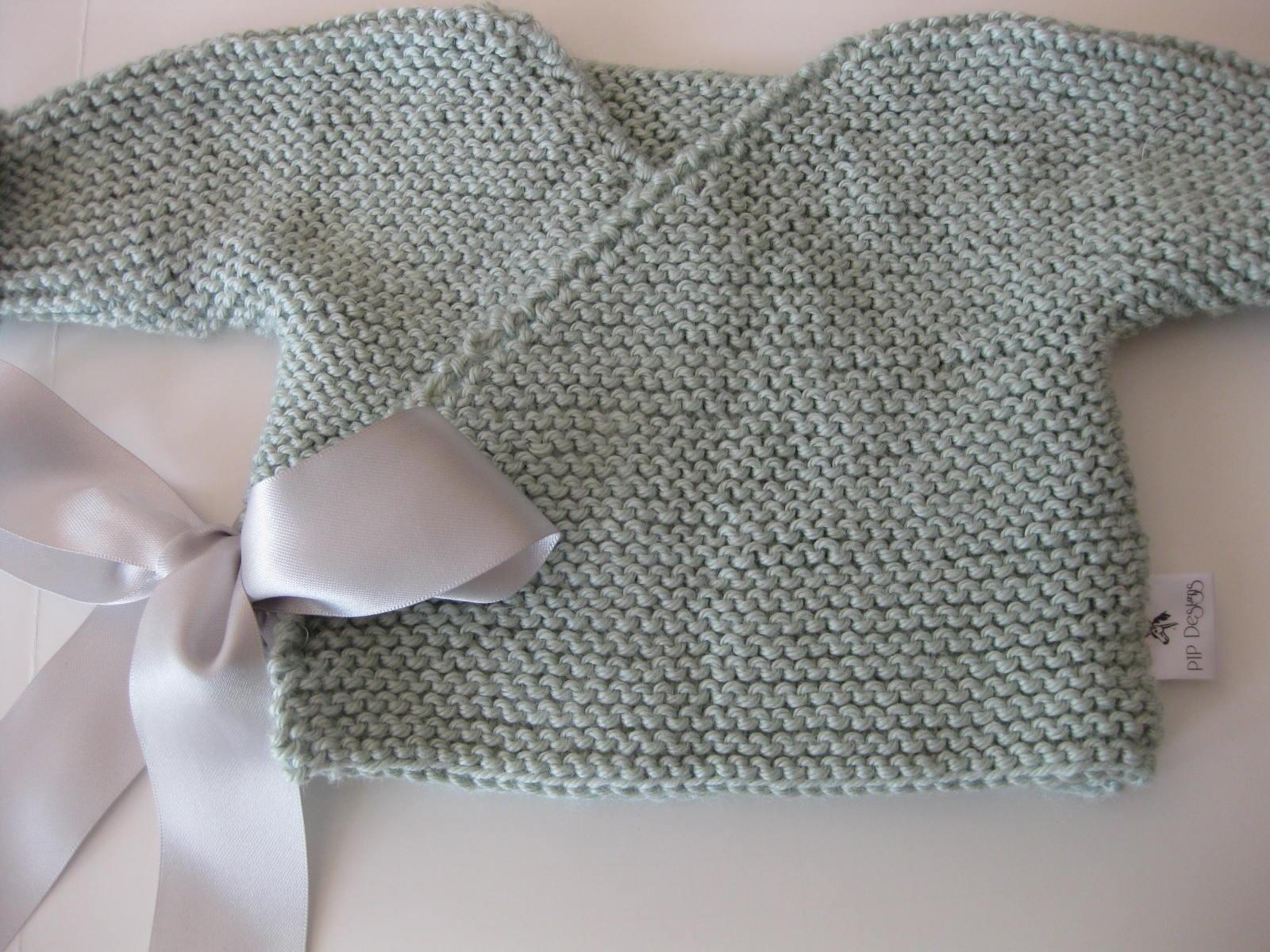 SEWmuchKNITting: Baby kimono - garter stitch