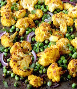 roasted curried cauliflower recipe by seasonwithspice.com
